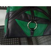 CALGARY - VALÓDI BŐR NŐI HÁTIZSÁK (fekete-zöld)